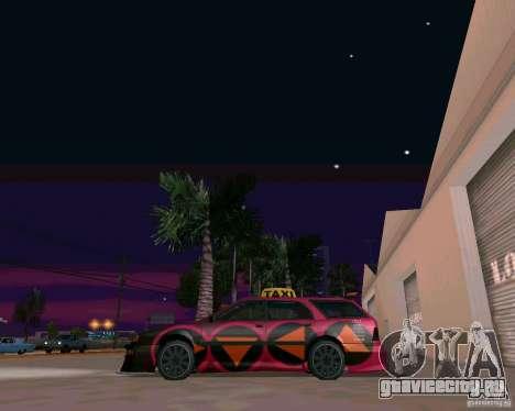 Stratum Tuned Taxi для GTA San Andreas вид сзади слева
