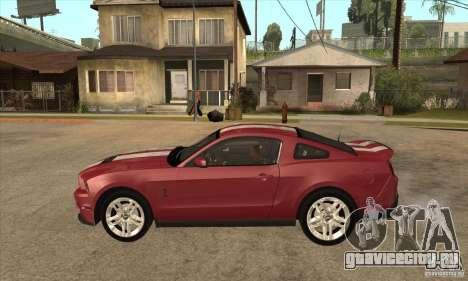 Shelby GT500 2010 для GTA San Andreas вид слева