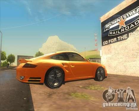 Porsche 911 Turbo (997) 2007 для GTA San Andreas вид слева
