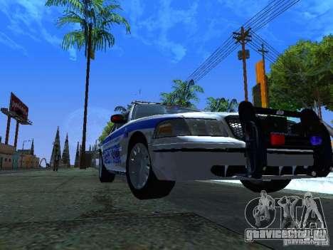 Ford Crown Victoria Police Interceptor 2008 для GTA San Andreas вид слева