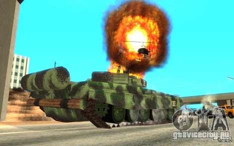 Танк T-72 для GTA San Andreas вид сзади