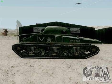 Танк Шерман для GTA San Andreas вид сзади слева