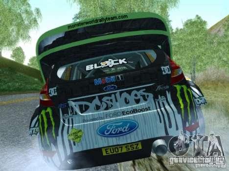 Ford Fiesta Ken Block Dirt 3 для GTA San Andreas вид сзади слева