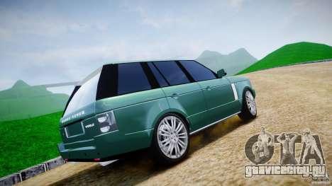 Range Rover Vogue для GTA 4 вид снизу