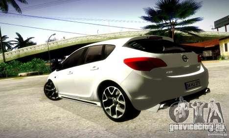 Opel Astra Senner для GTA San Andreas вид сзади слева