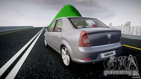 Renault Logan для GTA 4 вид сзади слева