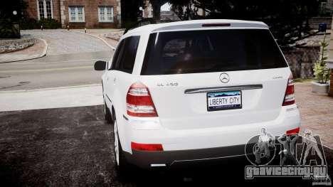 Mercedes-Benz GL450 для GTA 4 вид сзади слева