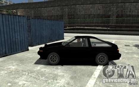 Toyota Sprinter Trueno AE86 для GTA 4 вид слева