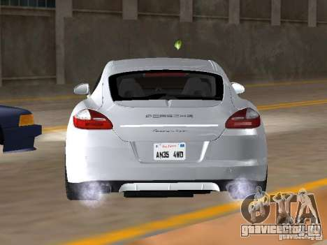 Porsche Panamera Turbo Tunable для GTA San Andreas вид сзади слева