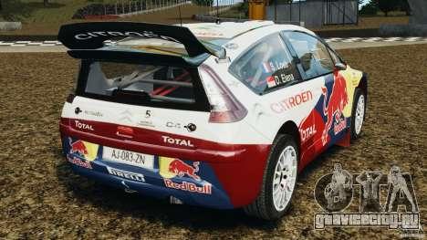 Citroen C4 WRC для GTA 4 вид сзади слева