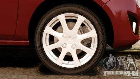 Mazda 2 2011 для GTA 4 вид сверху