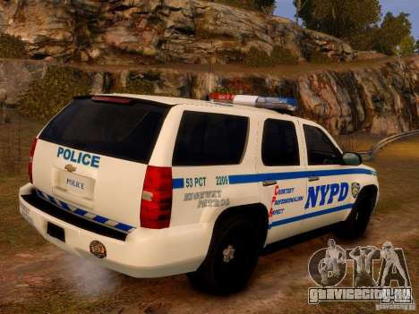 Chevrolet Tahoe New York Police для GTA 4 вид слева