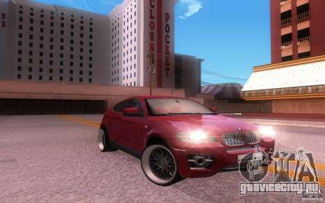 BMW X6 Tuning для GTA San Andreas вид сзади слева