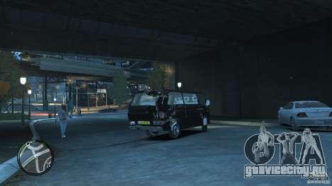 Volkswagen Transporter T3 для GTA 4 вид сбоку