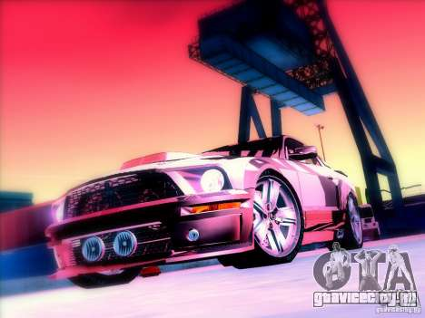 Ford Mustang Eleanor Prototype для GTA San Andreas вид изнутри