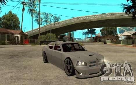 Dodge Charger 2009 для GTA San Andreas вид сзади