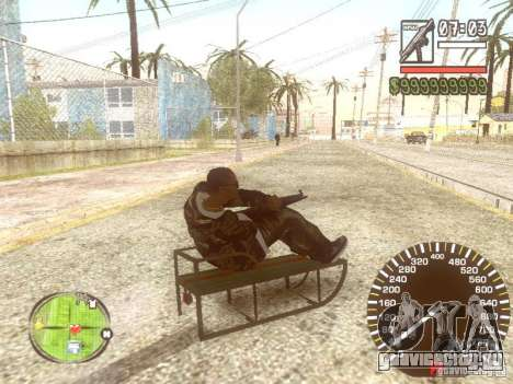 Сани для GTA San Andreas салон
