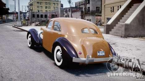 Cord 812 Charged Beverly Sedan 1937 для GTA 4 вид сзади слева