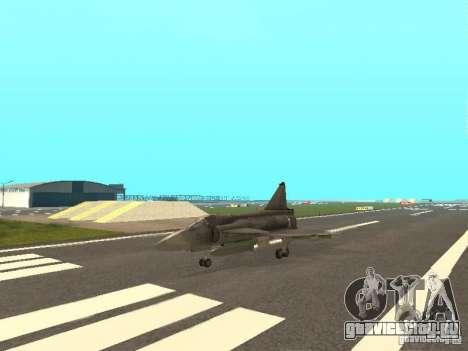 Saab JA-37 Viggen для GTA San Andreas вид слева