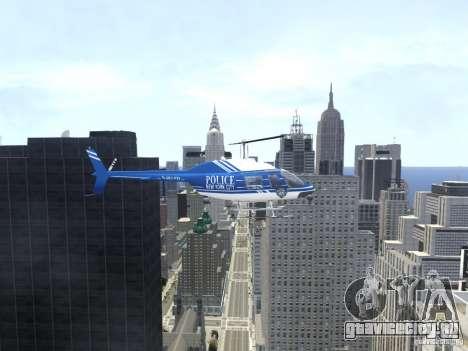 Bell 206 B - NYPD для GTA 4 вид изнутри