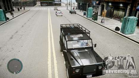 Land Rover Defender для GTA 4 вид сзади слева