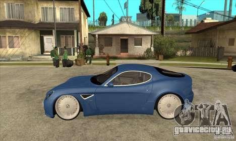 Alfa Romeo 8C Competizione для GTA San Andreas вид слева