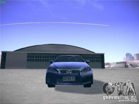 Lexus CT200H 2012 для GTA San Andreas вид слева
