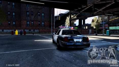 CVPI LCPD San Diego Police Department для GTA 4 вид сзади слева