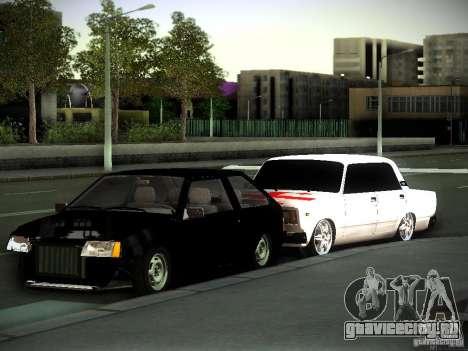 ВАЗ 2107 Грузия для GTA San Andreas вид слева