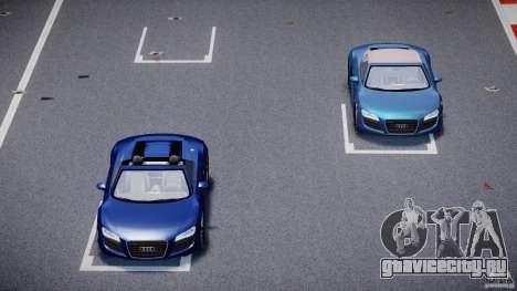 Audi R8 Spyder v2 2010 для GTA 4 вид сверху