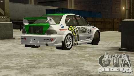 Mitsubishi Lancer Evolution IX RallyCross для GTA 4 вид слева
