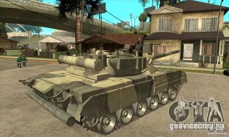 T-80U MBT для GTA San Andreas вид справа