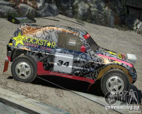 Mitsubishi Pajero Proto Dakar EK86 винил 1 для GTA 4 вид сзади
