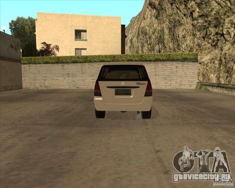 Toyota Innova для GTA San Andreas вид сзади