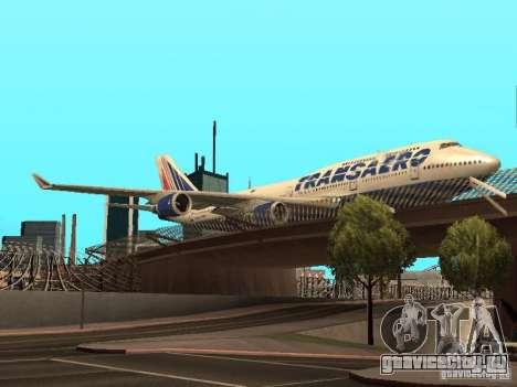 Boeing 747-400 для GTA San Andreas вид сзади