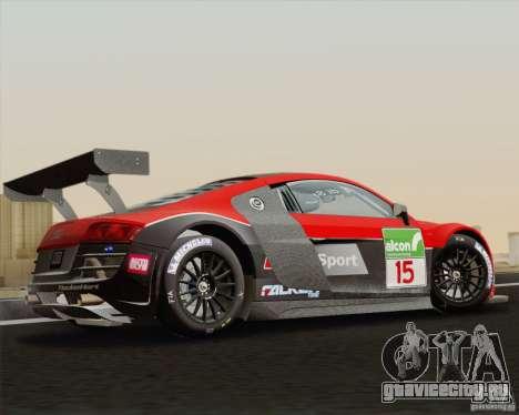 Audi R8 LMS v2.0.1 для GTA San Andreas вид слева