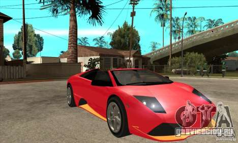 Lamborghini Murcielago LP650 для GTA San Andreas вид сзади
