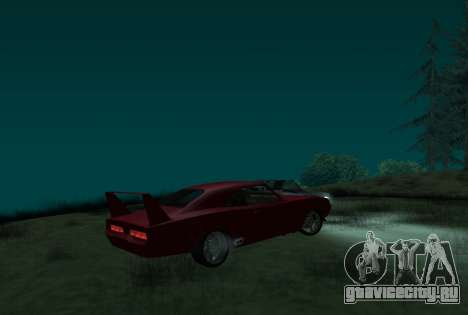 Dodge Charger Daytona для GTA San Andreas вид слева