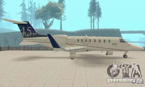Bombardier Leardjet 45XR для GTA San Andreas вид справа