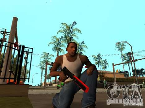 Red Chrome Weapon Pack для GTA San Andreas