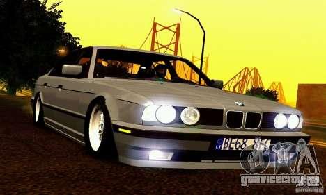 BMW E34 525i для GTA San Andreas вид снизу