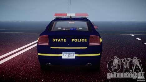 Dodge Charger NY State Trooper CHGR-V2.1M [ELS] для GTA 4 двигатель