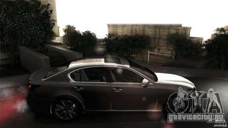 Lexus GS350F Sport 2013 для GTA San Andreas вид сзади