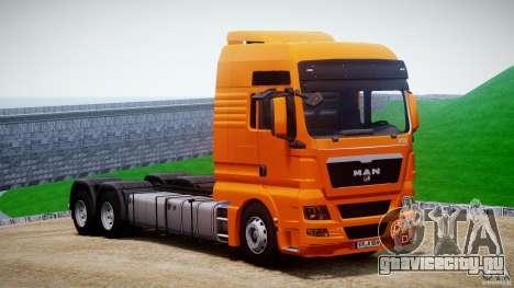 MAN TGX V8 6X4 для GTA 4 вид сзади