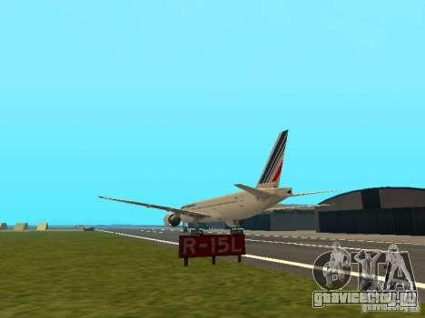 Boeing 777-200 Air France для GTA San Andreas вид сзади слева