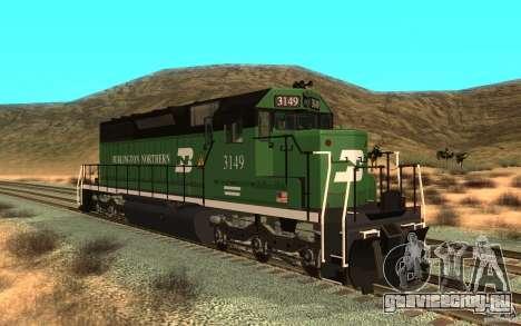 SD 40 Union Pacific Burlington Northern 3149 для GTA San Andreas