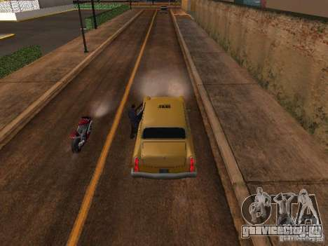 Прыжок с мотоцикла в машину для GTA San Andreas