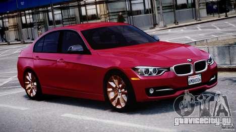 BMW 335i E30 2012 Sport Line v1.0 для GTA 4 вид изнутри