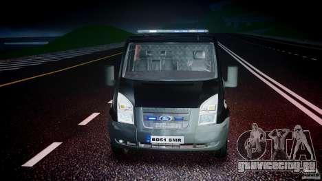 Ford Transit SWAT [ELS] для GTA 4 вид сверху