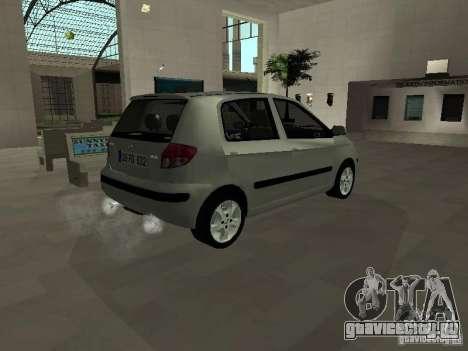 Hyundai Getz для GTA San Andreas вид сзади слева